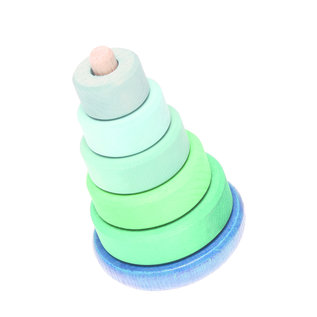 Grimm's Grimm's Wobbly Stacking Tower, blue-green