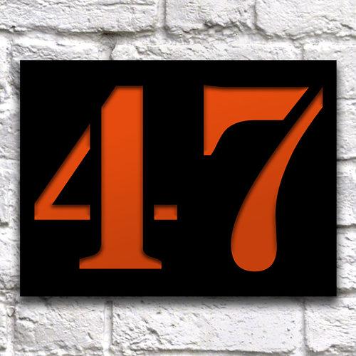Huisnummerbord ontwerpen 20 x 15cm zwart