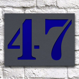 Huisnummerbord 20 x 15 cm grijs