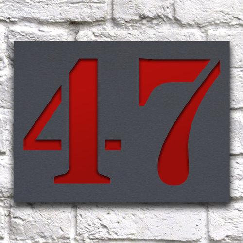 Huisnummerbord ontwerpen 20 x 15 cm grijs