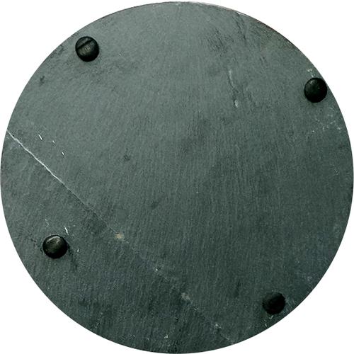 Gepersonaliseerde ronde serveerplank in leisteen met uw eigen gravering