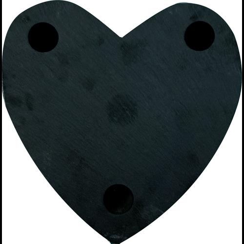 Gepersonaliseerde hartvormige leisteen met eigen gravering