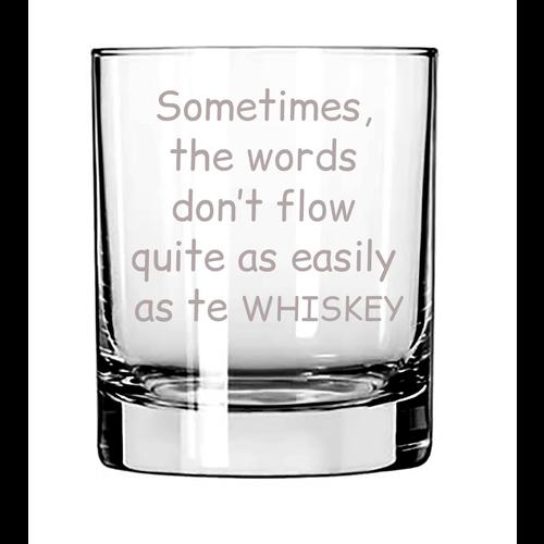 Whiskeyglas met naam, tekst of illustraties gegraveerd