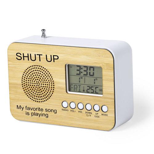 Radio-uurwerk met naam of tekst gravering