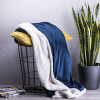 Geborduurd  sherpa fleece deken met tekst