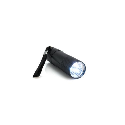 LED-zaklamp met gegraveerde tekst