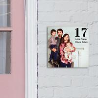 Huisnaambord met foto, tekst en illustraties bedrukt 20 x 20 cm