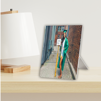 Aluminium fotopaneel bedrukt met foto en tekst 20 x 20