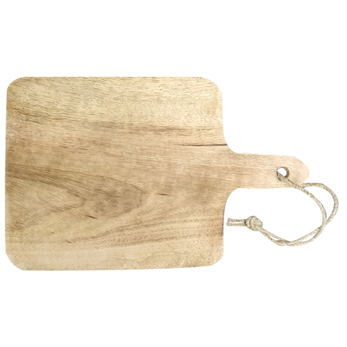 Vierkante bamboe snijplank met handgreep met uw eigen gravering