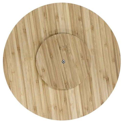 Serveer draaiplateau bamboe met gepersonaliseerde gravering