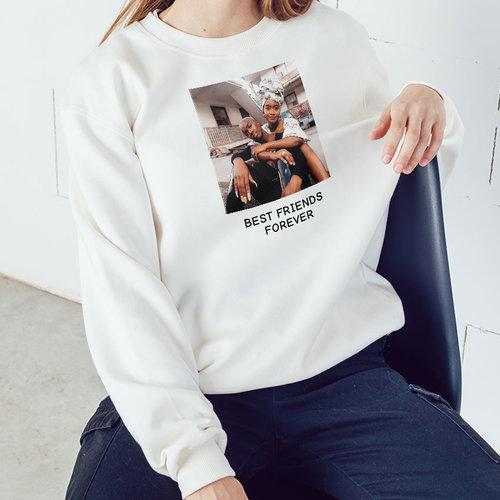 Bedrukte dames trui met eigen ontwerp