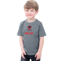 Bedrukte Kinder T-shirt met foto, illustratie en tekst