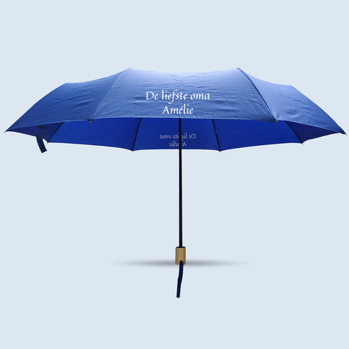 Opvouwbare paraplu met foto, tekst en illustratie