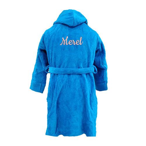 Kinderbadjas/kamerjas geborduurd met naam
