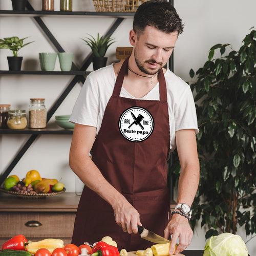Keukenschort bedrukken met foto tekst en illustratie