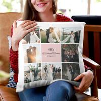 Kussen 40 x 40 cm bedrukt met foto en tekst