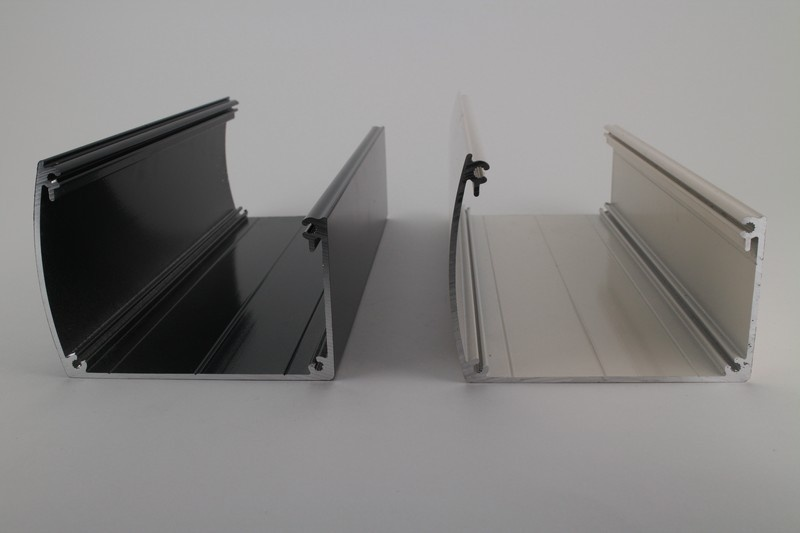 Aluminium siergoot zwart (RAL9005)