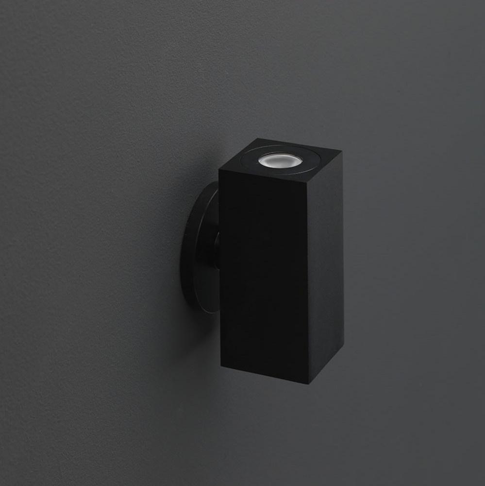 LED Wandspot zwart vierkant