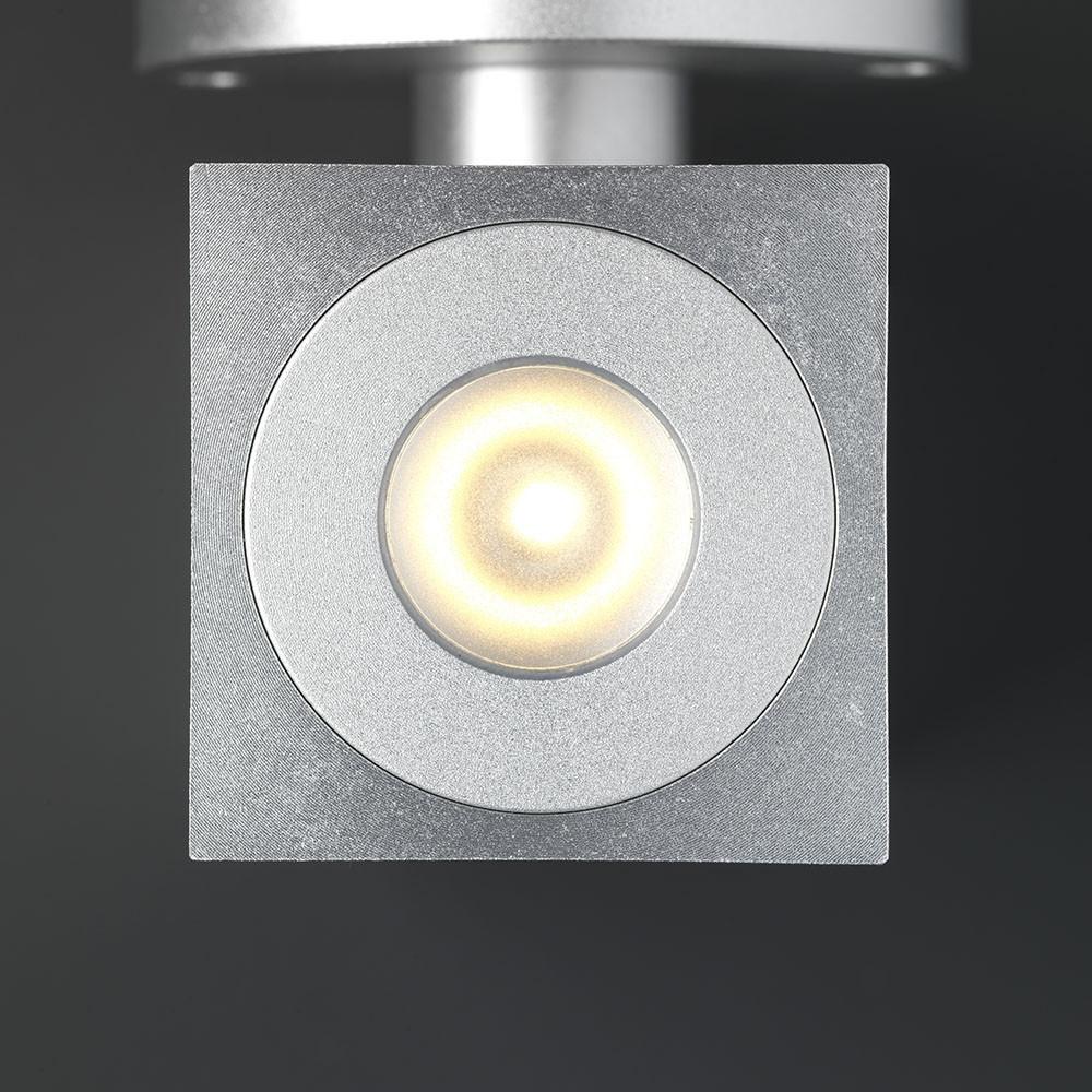 LED Wandspot grijs vierkant