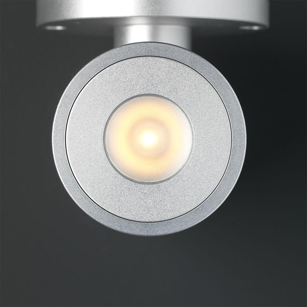 LED Wandspot grijs rond
