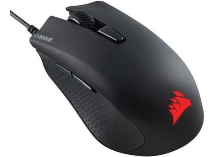 Die HARPOON RGB-Maus wurde für hohe Leistungen entwickelt und besitzt einen optischen Gaming-Sensor mit 6.000 dpi und hochentwickeltem Tracking für eine präzise Steuerung und ein leichtes, profiliertes Design für schnellste Bewegungen.