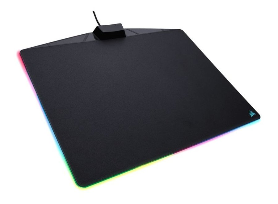 Corsair Gaming-Mausmatte MM800 RGB Polaris Schwarz, Farbe: Schwarz, Form: Rechteck, LED-Beleuchtung