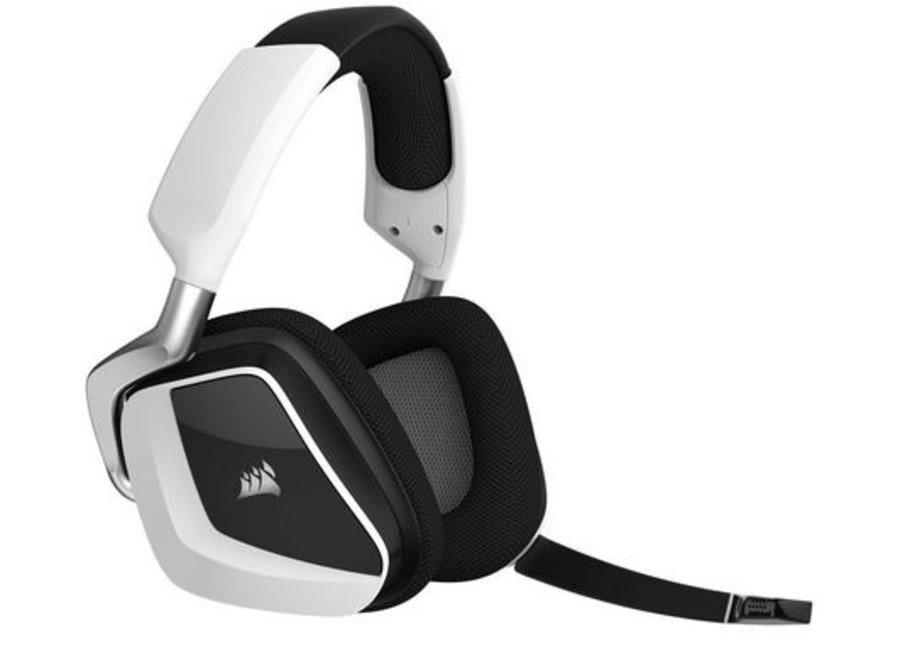 Corsair Headset VOID PRO RGB Wireless White Verbindungsmöglichkeiten: USB-Funkempfänger, Audiokanäle: 7.1, Surround-Sound, Farbe: Weiss; Schwarz, Plattform: PC, Kopfhörer Trageform: Over-Ear, Mikrofon Eigenschaften: Geräuschunterdrückung, Kopfhörer Aussta