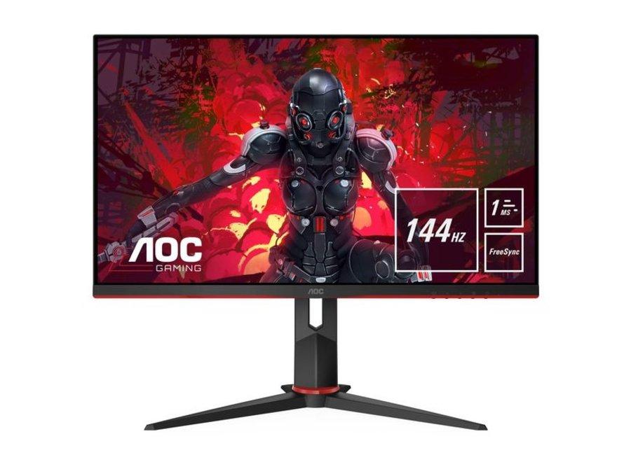 """AOC Monitor 27G2U/BK  -  Bildschirmdiagonale: 27 """", Auflösung: 1920 x 1080 (Full HD), Paneltyp: IPS, Bildschirmoberfläche: Matt, Farbraum: sRGB, USB-Hub, Farbe: Schwarz, Seitenverhältnis Bildschirm: 16:9"""