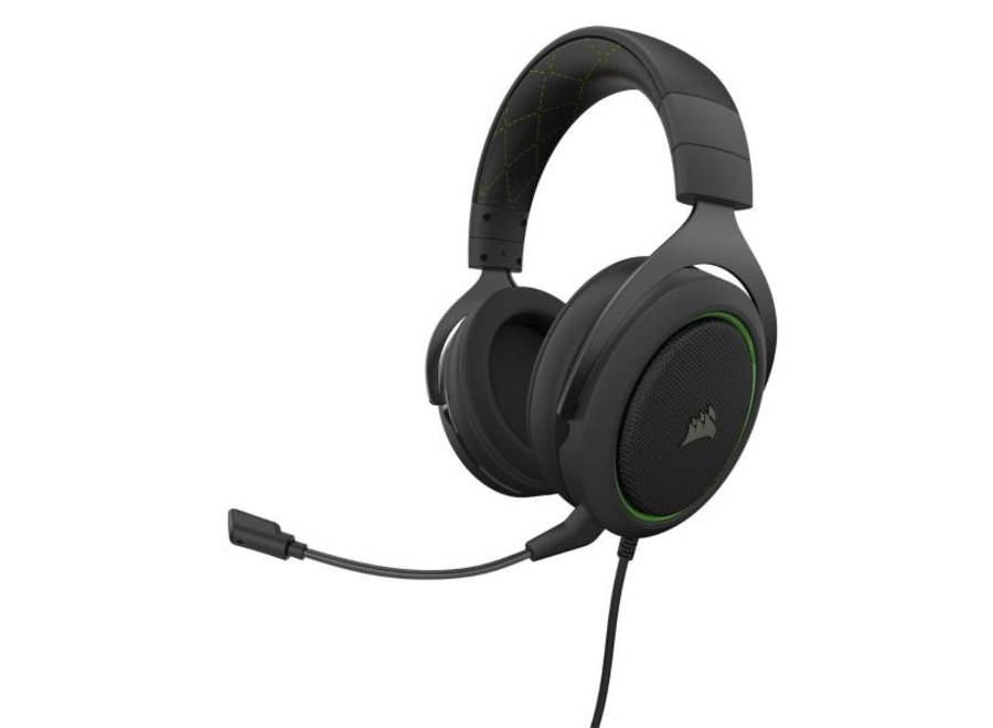 Corsair Headset HS50 Pro Stereo Wired Carbon Verbindungsmöglichkeiten: 3,5 mm Klinke, Audiokanäle: Stereo, Farbe: Carbon, Plattform: PC; PlayStation 4; XboxOne; Nintendo Switch, Kopfhörer Trageform: Over-Ear, Mikrofon Eigenschaften: Abnehmbar; Geräuschunt