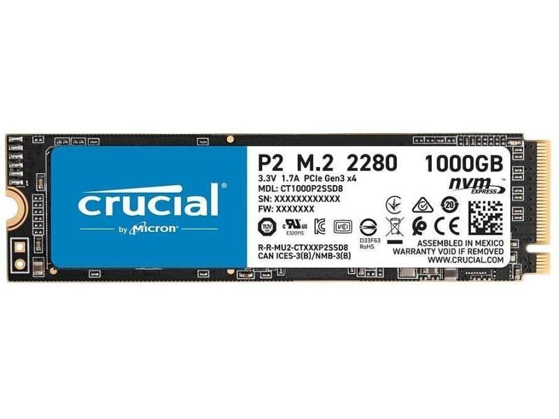 Crucial SSD P2 3D NAND NVMe M.2 2280 NVMe 2 TB