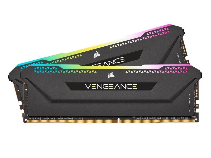 Corsair DDR4-RAM Vengeance RGB PRO SL Black 3600 MHz 2x 16 GB
