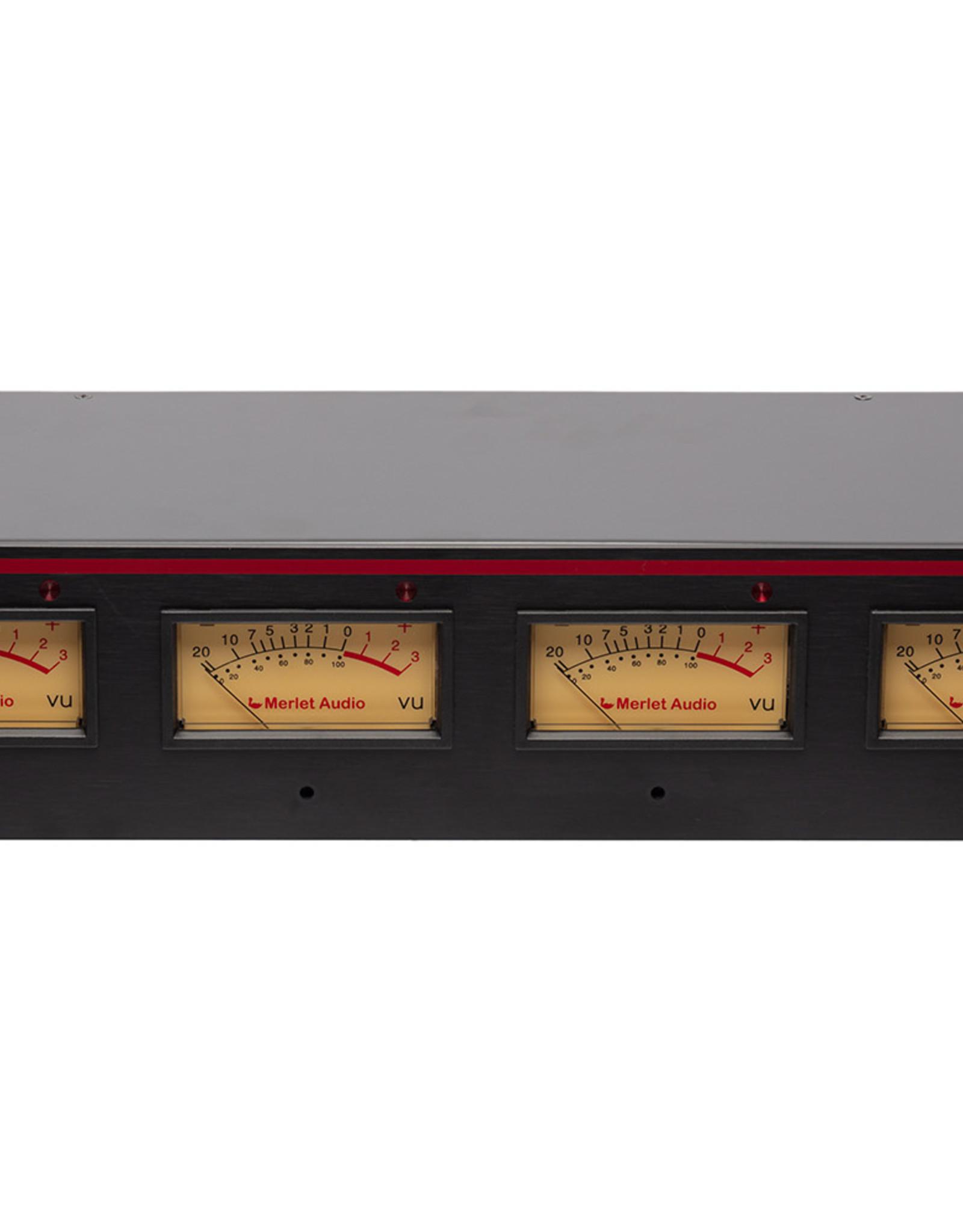 Merlet Merlet Audio  QuadVU 4 channel analog VU meter with peak indicator