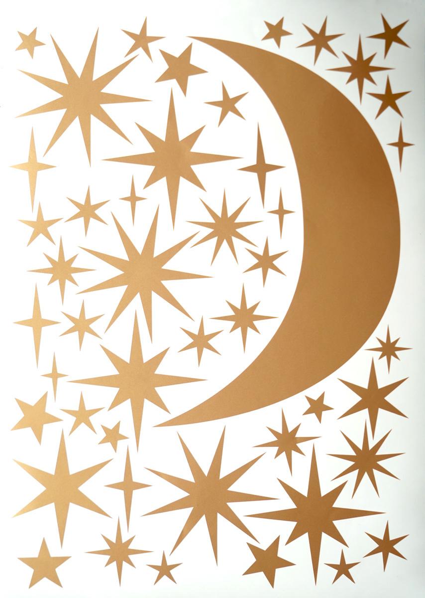 Sternen und Mond aufkleber-1