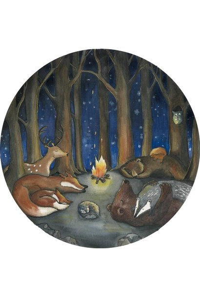Tieren im Wald Tapetenkreis
