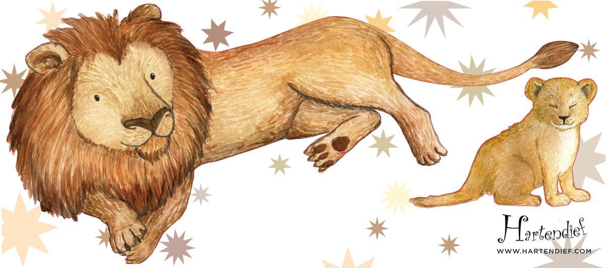 Zwei Löwen Aufkleber-1