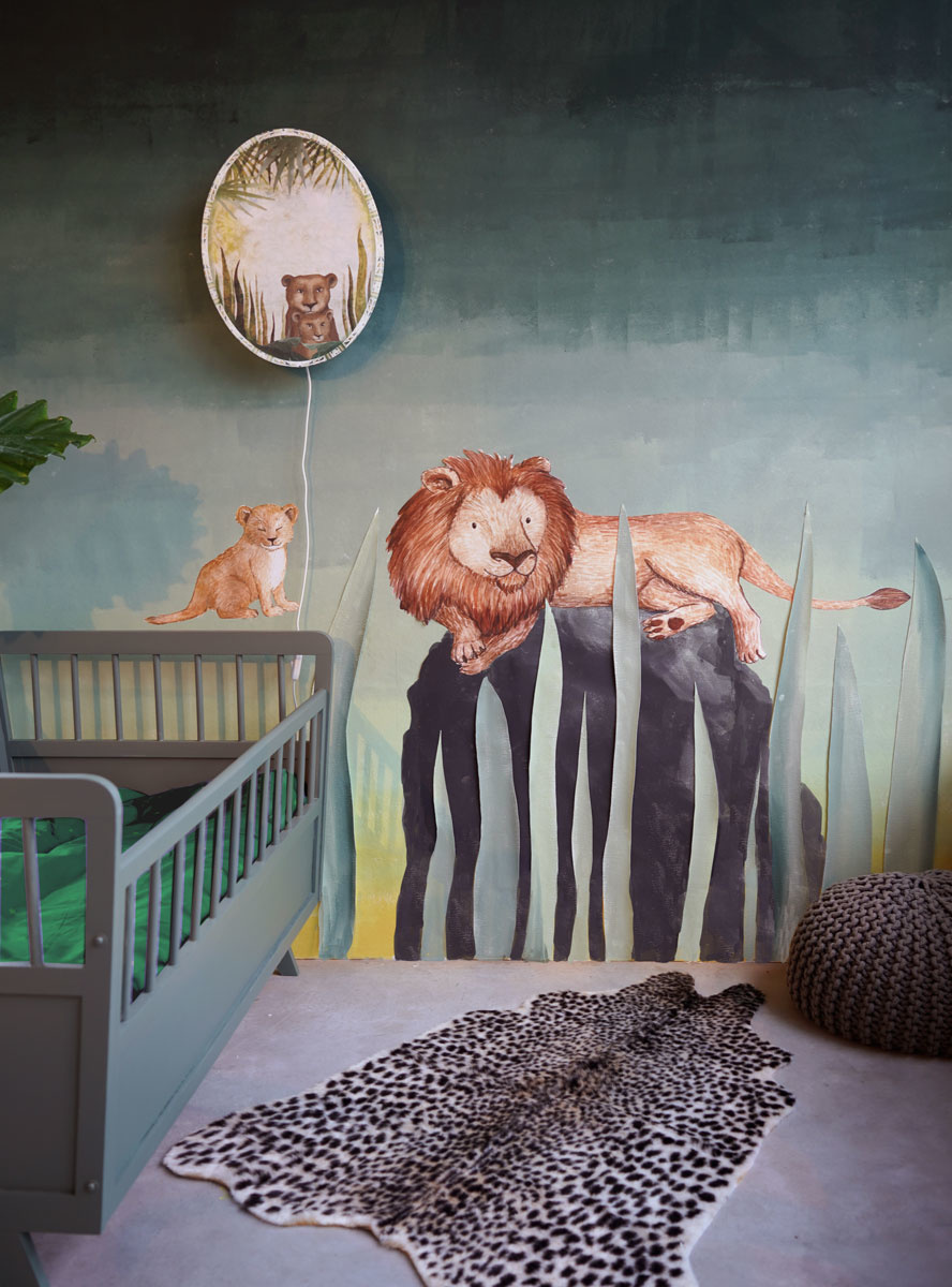 Zwei Löwen Aufkleber-2