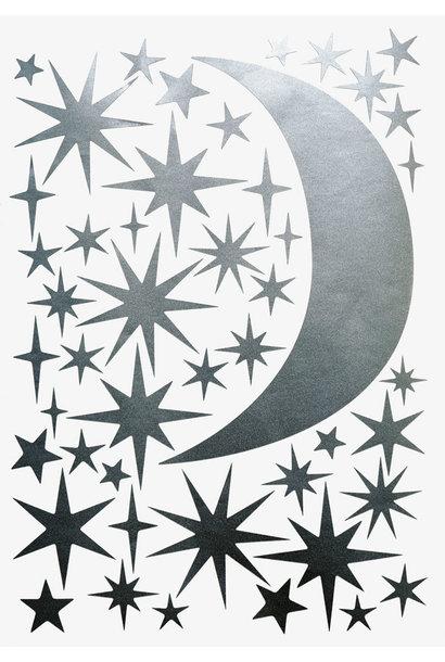 Sternen und Mond Silber