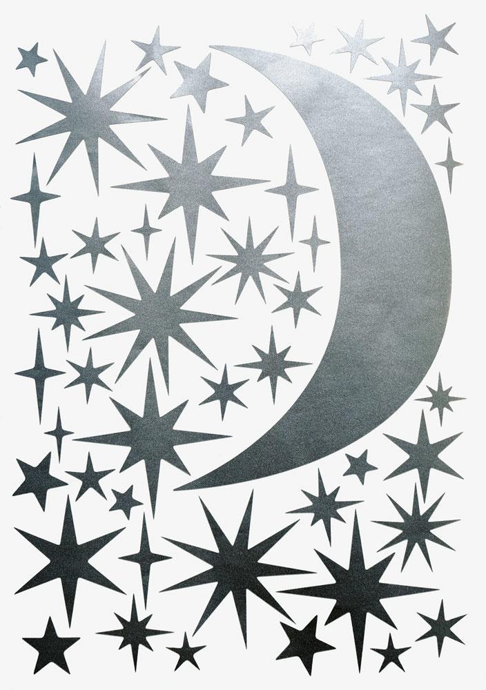 Sternen und Mond Silber-1