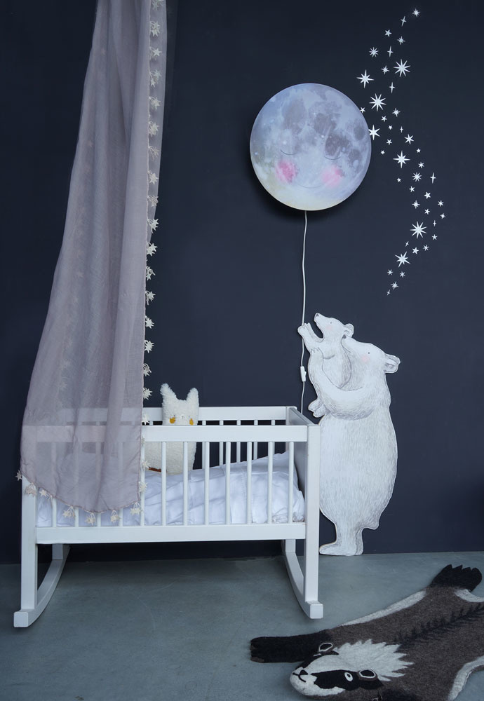 Sternen und Mond Silber-2