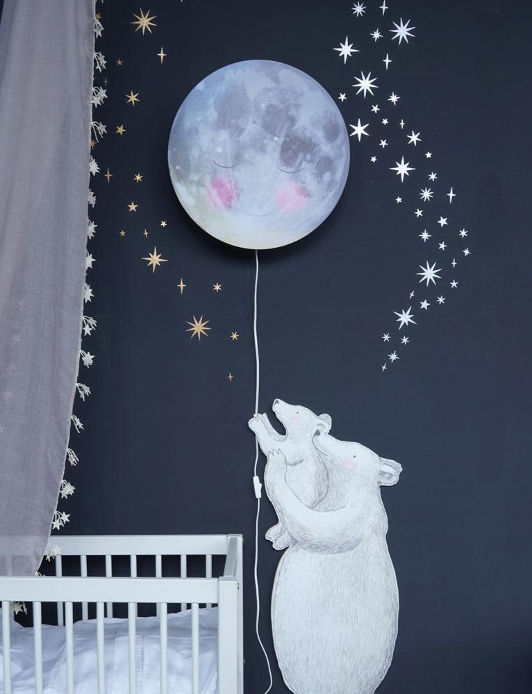 Sternen und Mond Silber-3