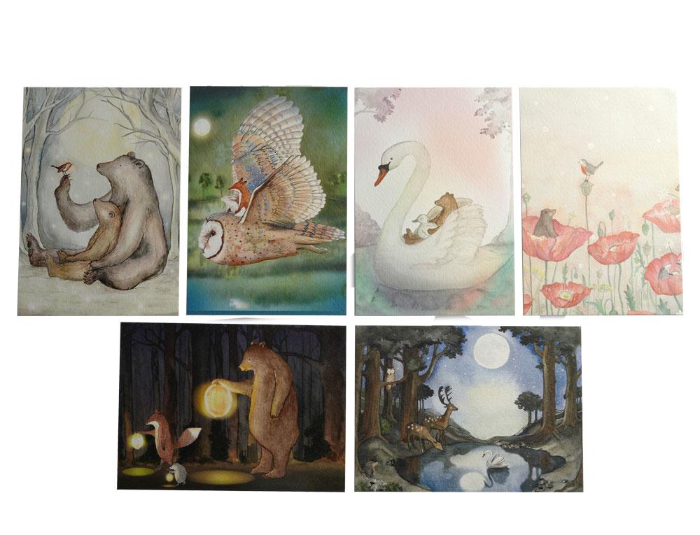 Postkarten Set-3