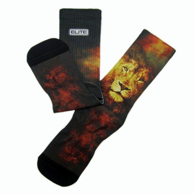 Elite Lion print urban socks