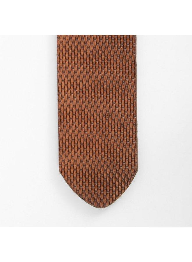 Velez leather belt engraved cognac