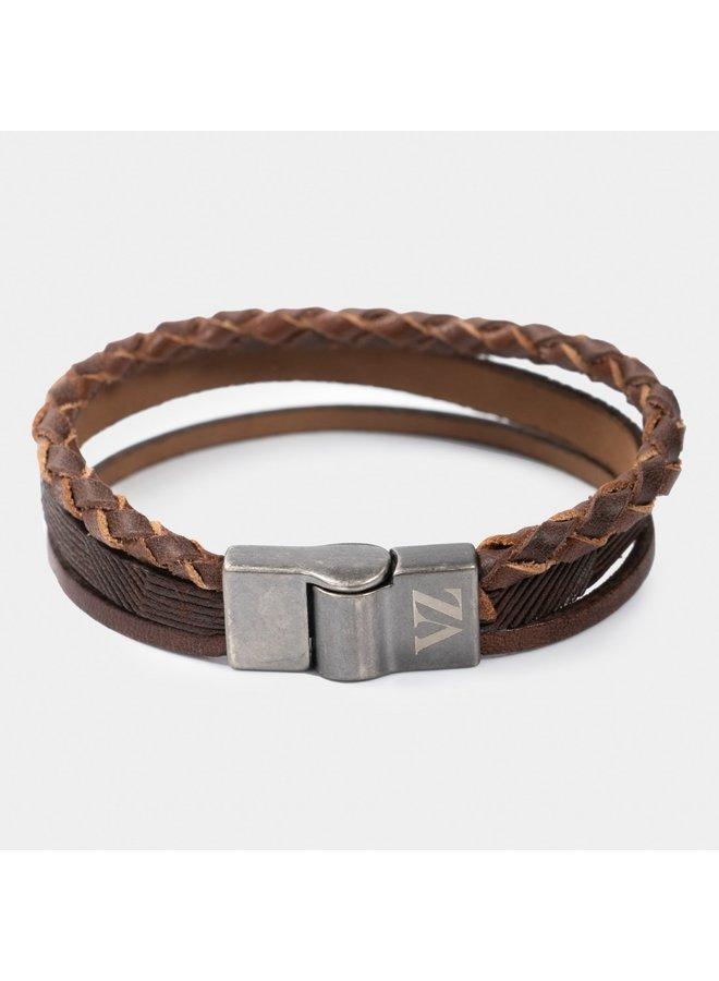 Velez leather bracelet Colombia cognac