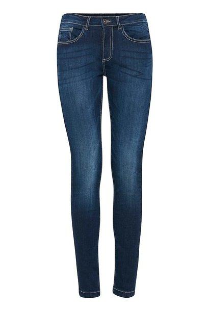 Jeans slimfit donkerblauw