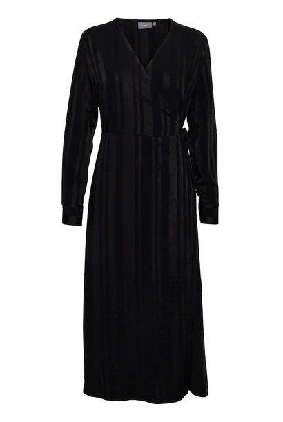 Zwart gestreepte jurk