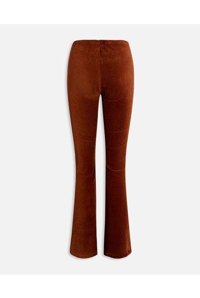 Pola-pants rib flaredbroek