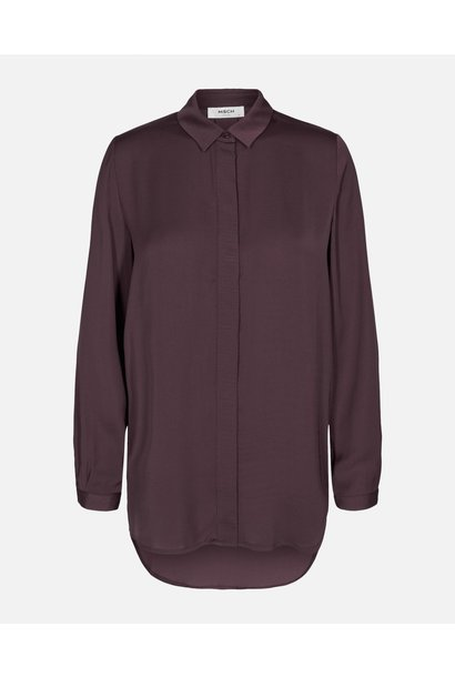 Blair seasonal polysilk Blouse aubergine