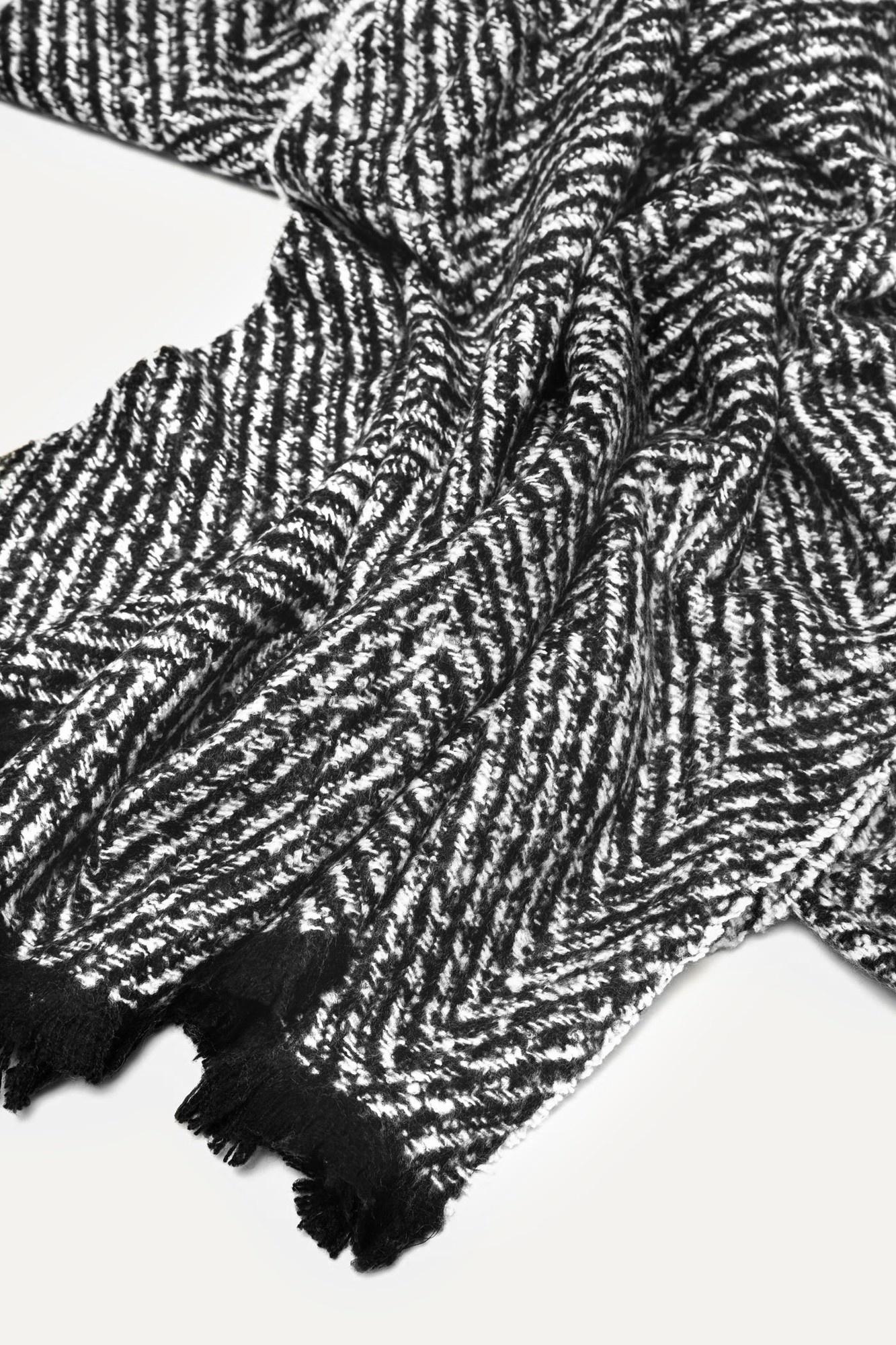 Sjaal zwart wit-3