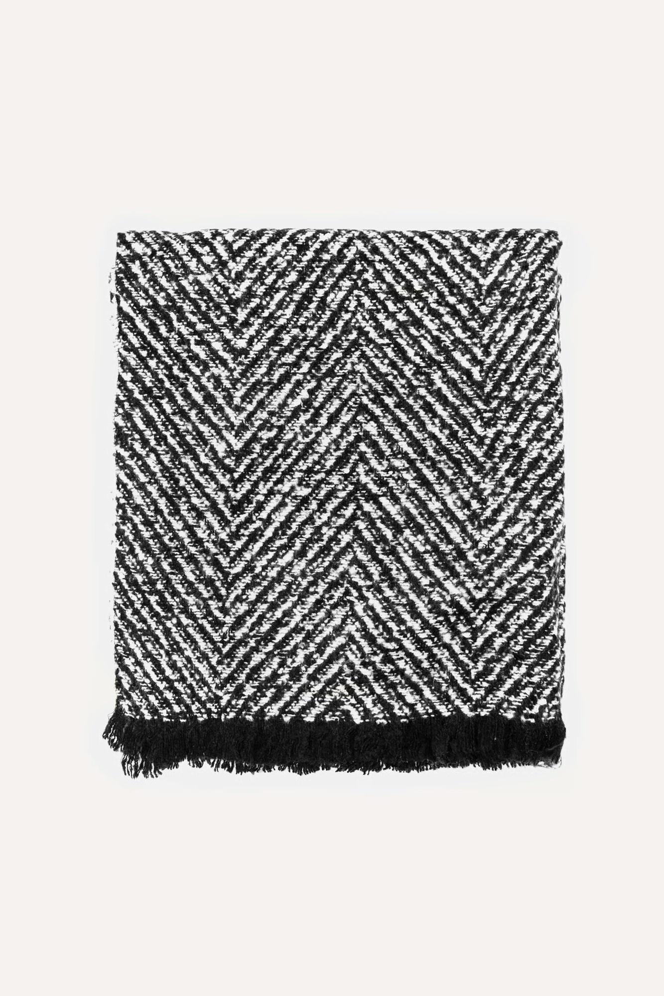 Sjaal zwart wit-1